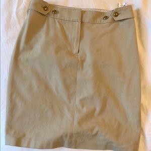 Brooks brother khaki skirt, size 2